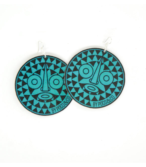 Boucles d'oreille green mask