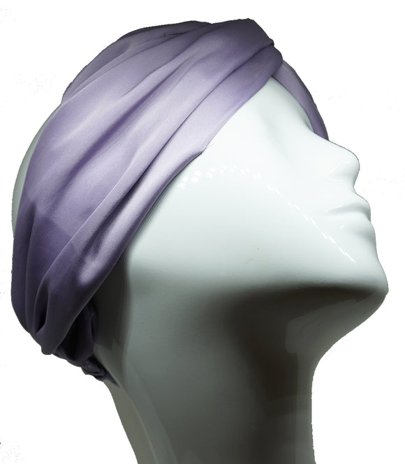 Headband stretchy classic satin light mauve