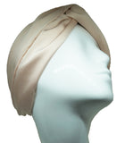 Headband stretchy classic satin champagne