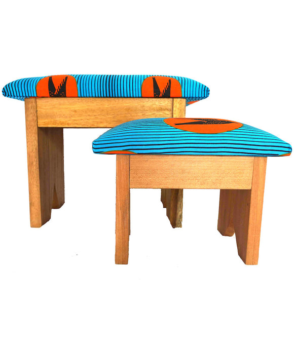 Lot de 2 tabourets wax