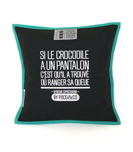 "Housse de coussin ""African expressions"" vert"