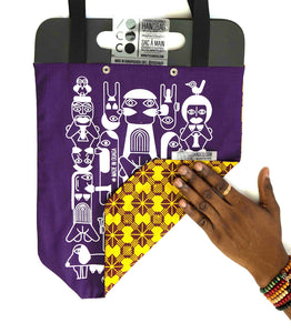 "Tote bag pneu ""Sexual Africa"" violet"