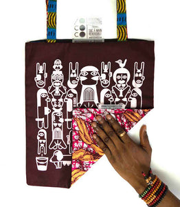"Tote bag ""Sexual Africa"" bordeaux"