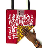 "Tote bag ""Sexual Africa"" face rouge"