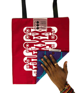 "Tote bag ""Sexual Farandole"" face rouge"