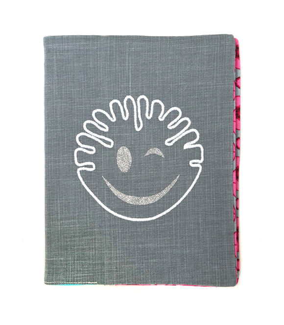 Cahier Smiley gris