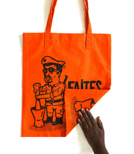 "Tote bag ""Foutou"" orange"