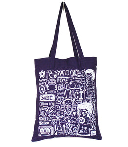 "Tote bag ""Love Babi"" violet"