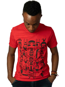 "T-shirt ""African Kiss"" rouge"