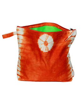 "Trousse de plage ""tie and dye"" Orange"