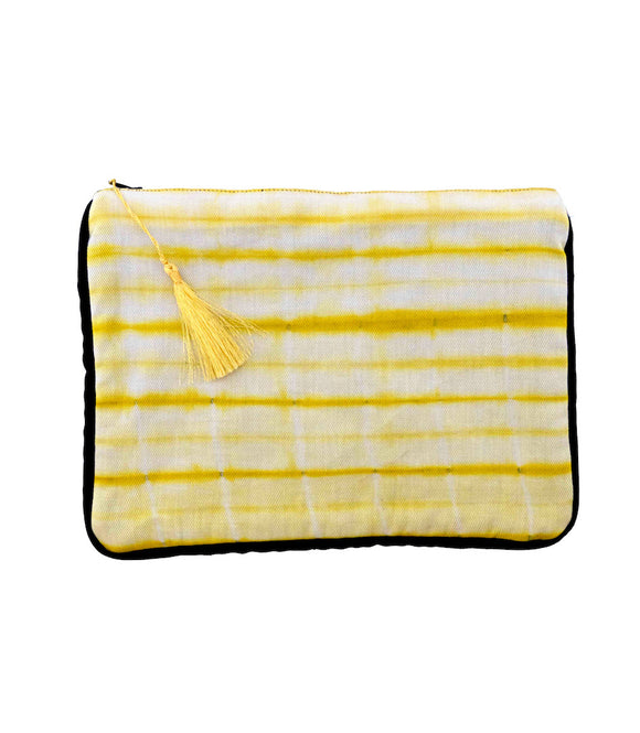 Pochette Tie and dye jaune