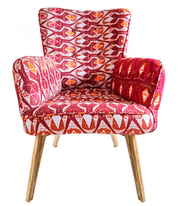 Fauteuil Woodin Rose/Rouge