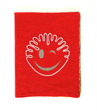 Cahier Smiley rouge