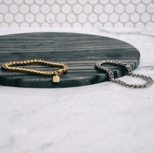 2Tone Curb-Convert Bracelet/Necklace