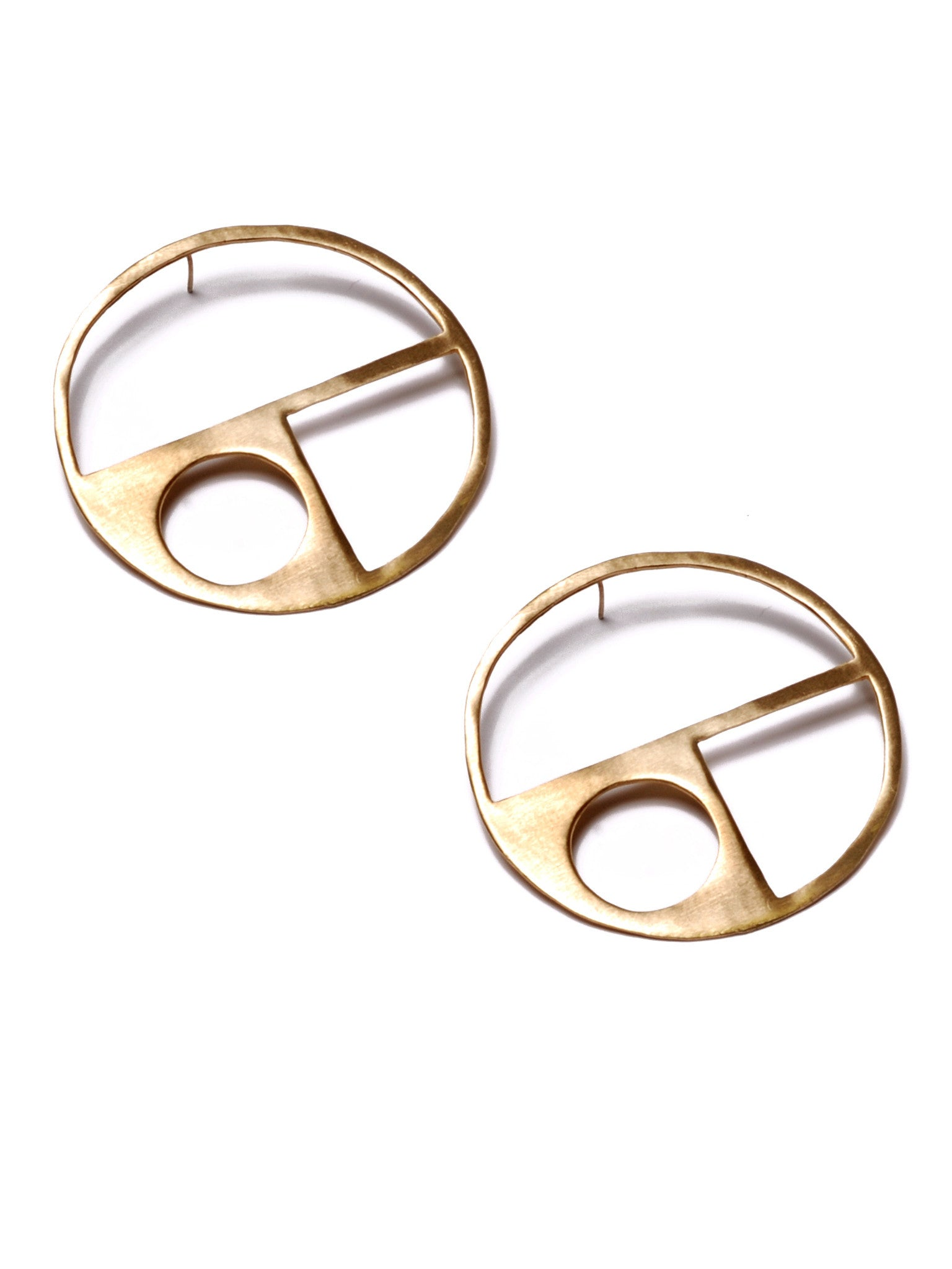 Large Circle Cutout Earrings