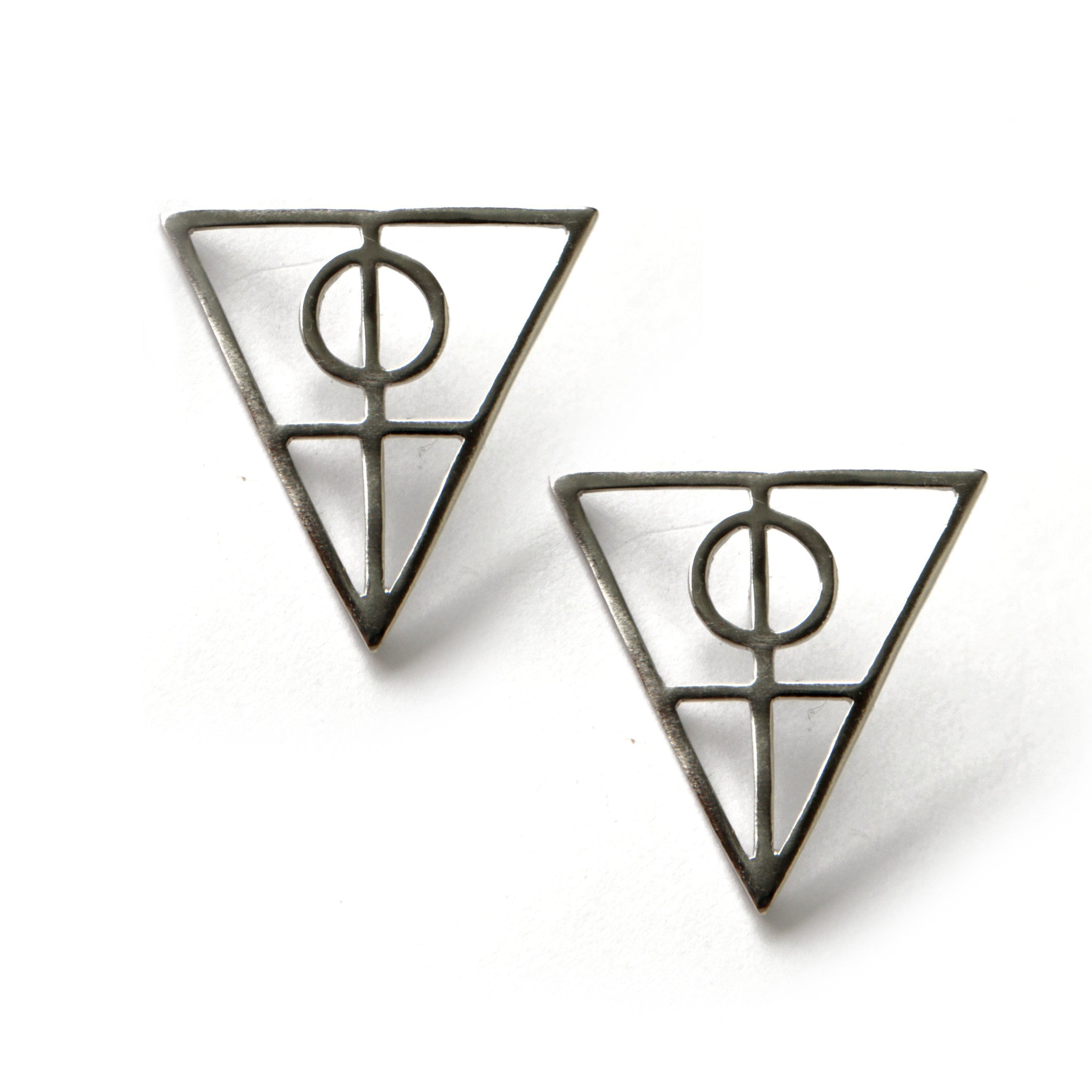 Large Triangle Earrings
