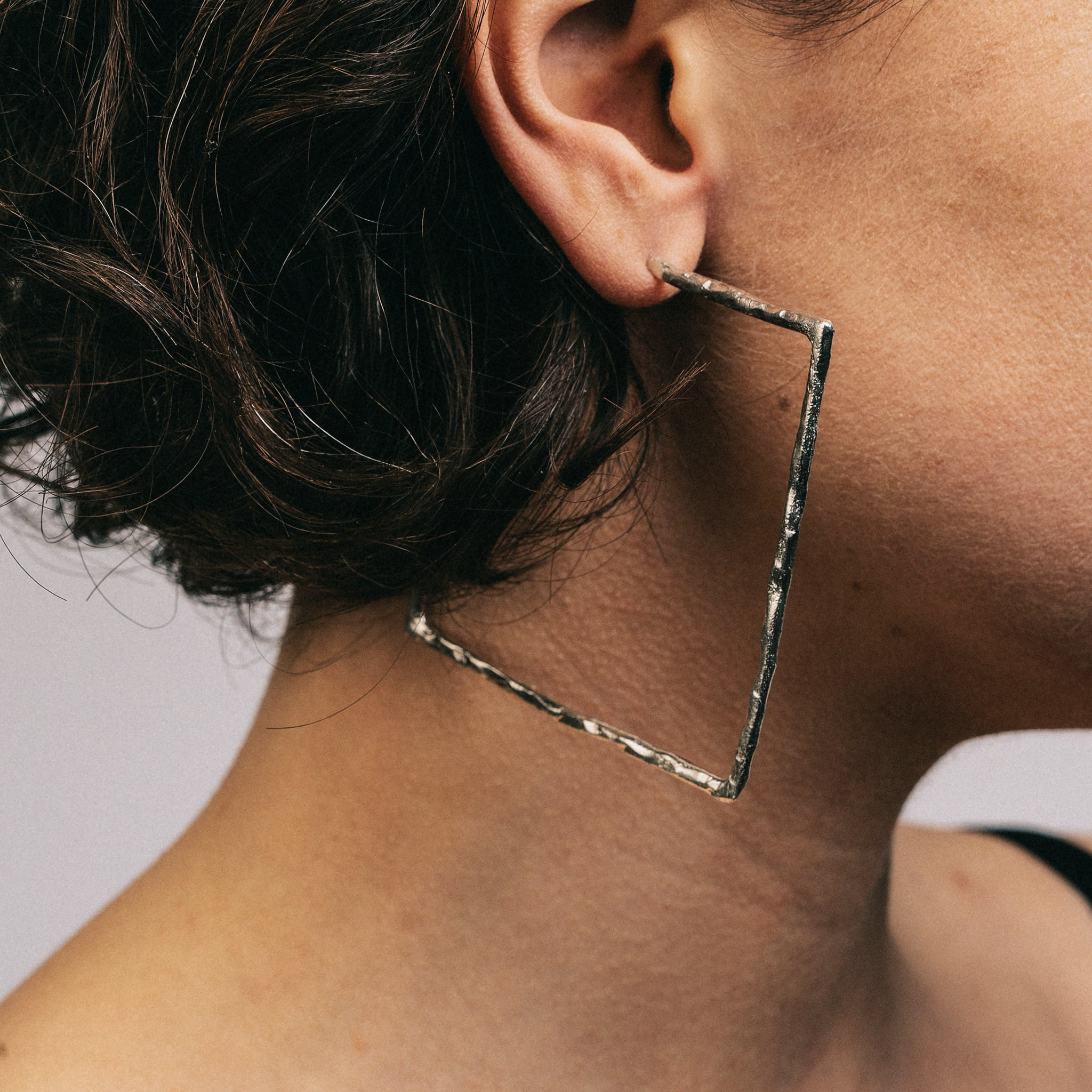 Textured Square Hoops