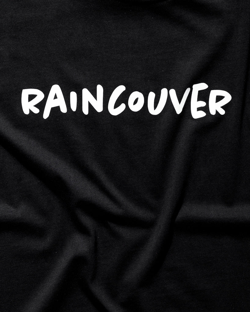 Raincouver Tee - Midnight Black