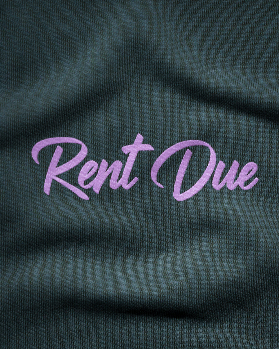 Rent Due Sweatshirt - Agave Green