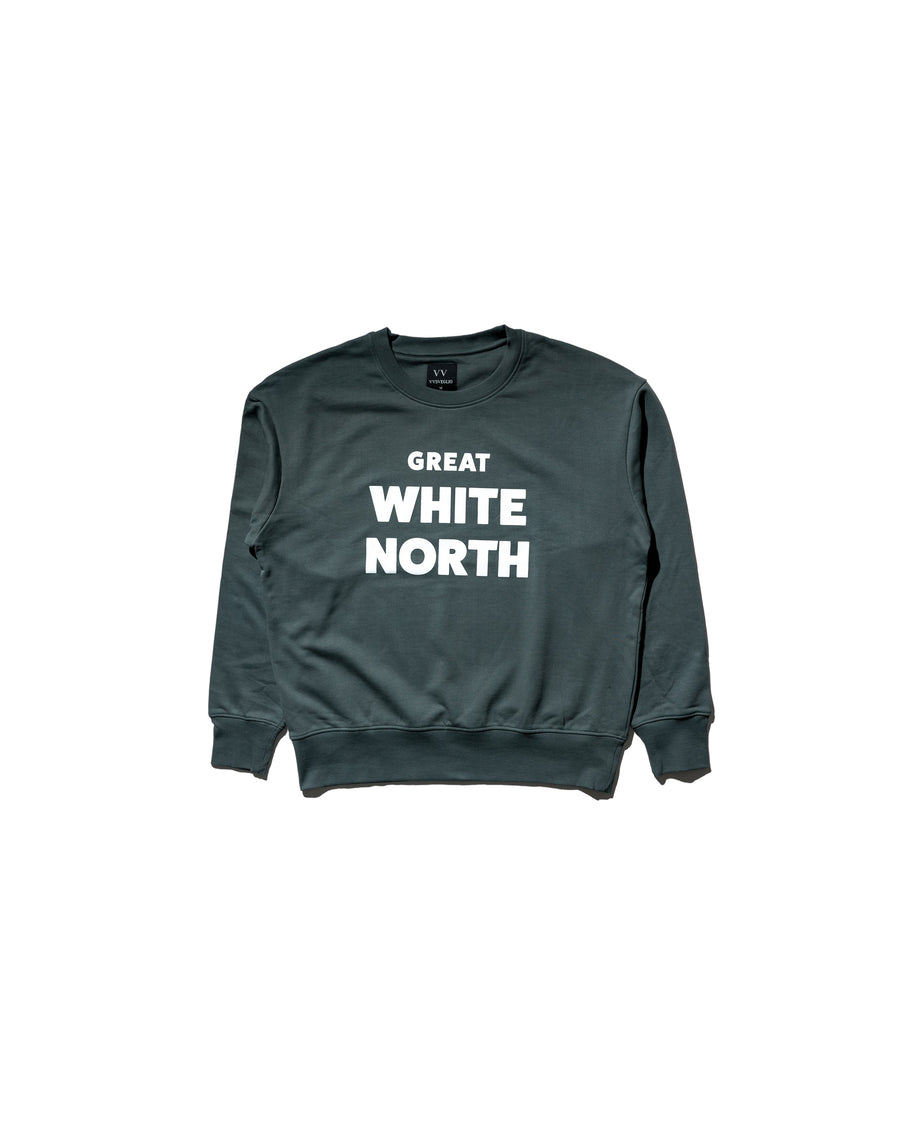Great White North Sweatshirt - Agave Green