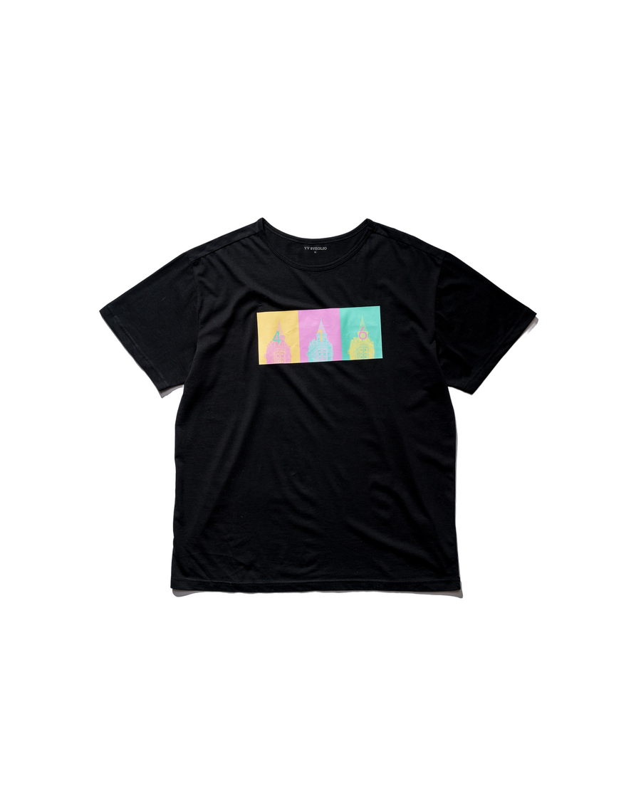 416 Pop Art Tee - Midnight Black