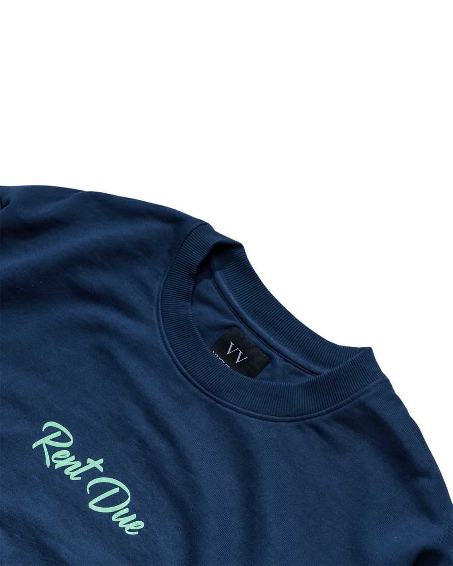 Rent Due Sweatshirt - Evening Blue