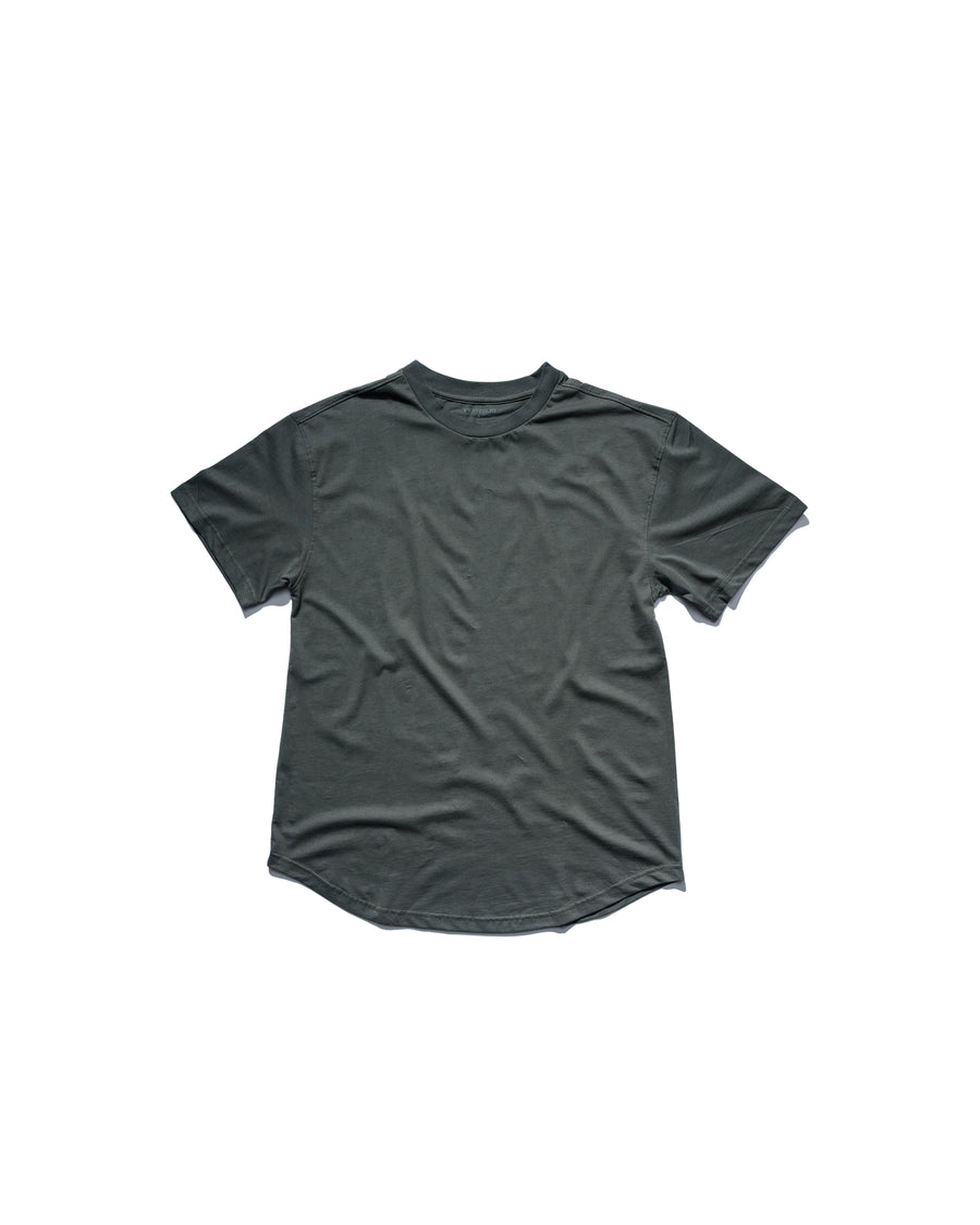 Curved Hem Tee - Agave Green