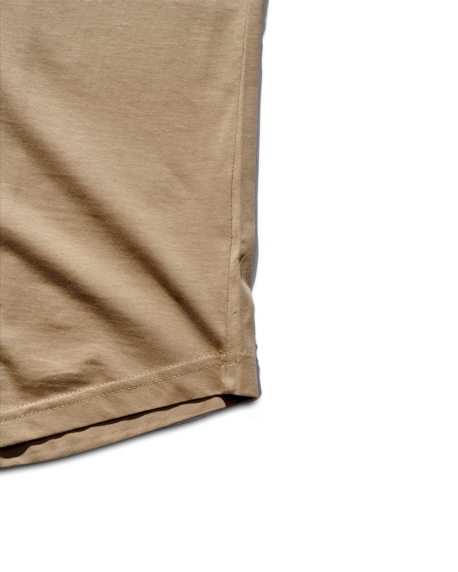 Curved Hem Tee - Desert Brown