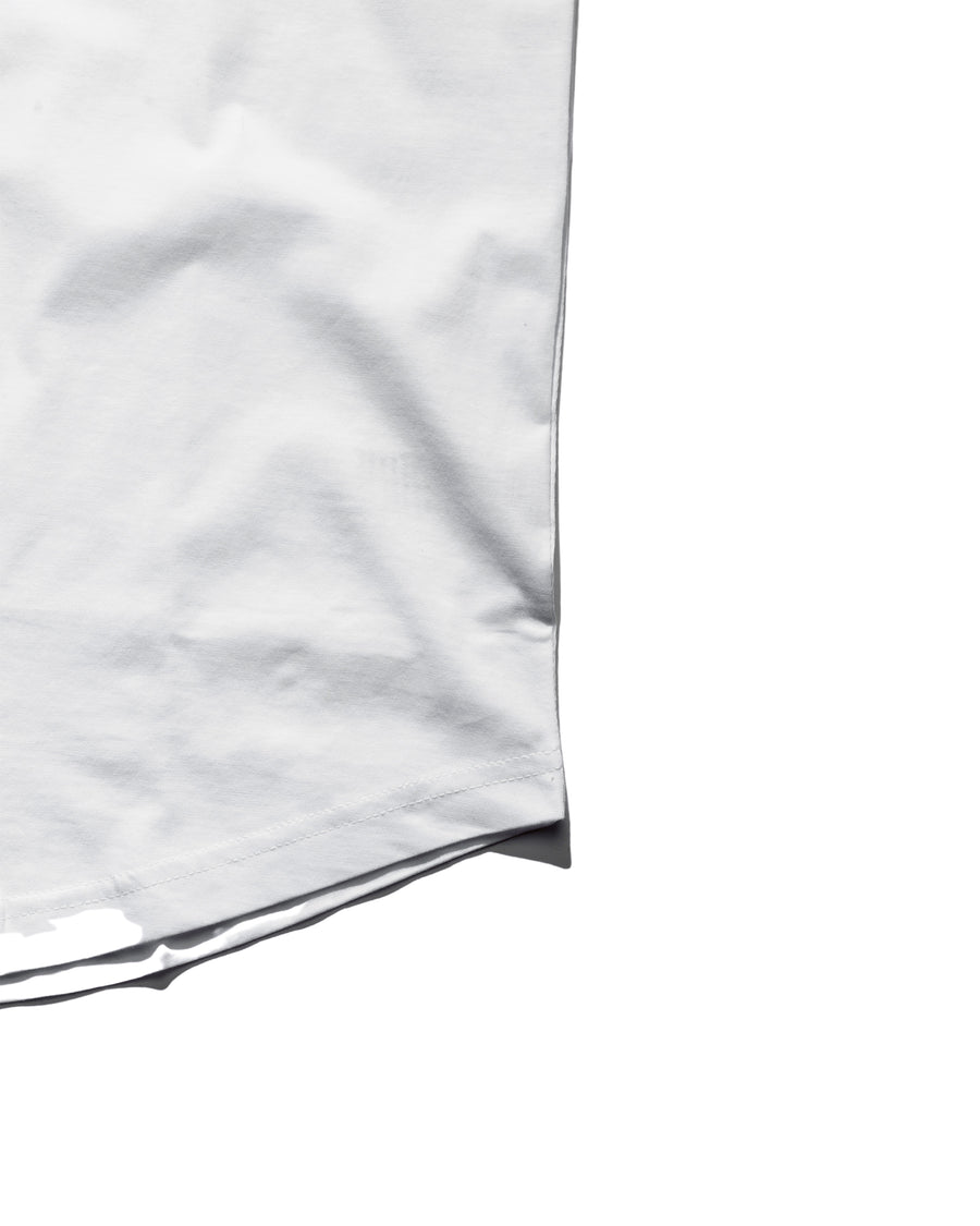 Curved Hem Tee - Polar White