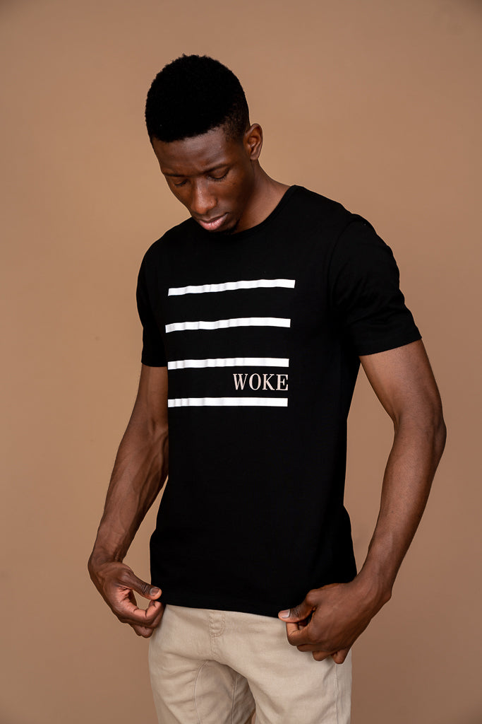 WOKE Tee - Midnight Black
