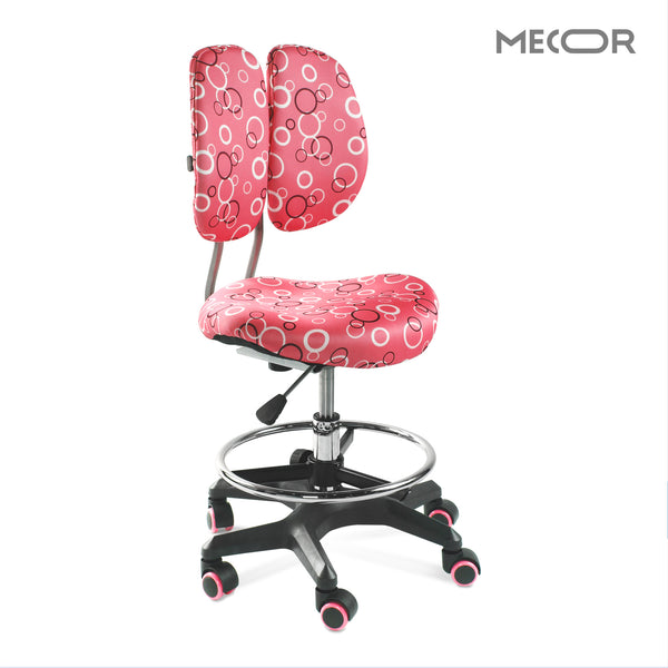 Mecor Ergonomic Desk Chair Kids Office Chair Correct Posture, Height Adjustable Swivel Children Student Computer Chair (Pink)