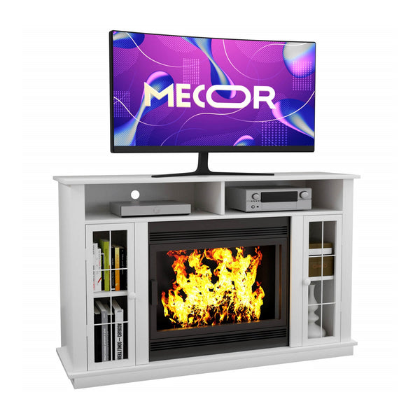 "Mecor Fireplace TV Stand for TVs up to 50"", TV Console Without Electric Fireplace,Fireplace Mantel Surround for Living Room"