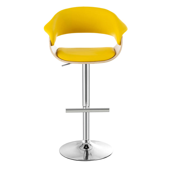 Mecor Bar Stools with Solid Wood Backrest, 360 Degree Roating Bar Counter Chairs, Height Adjustable