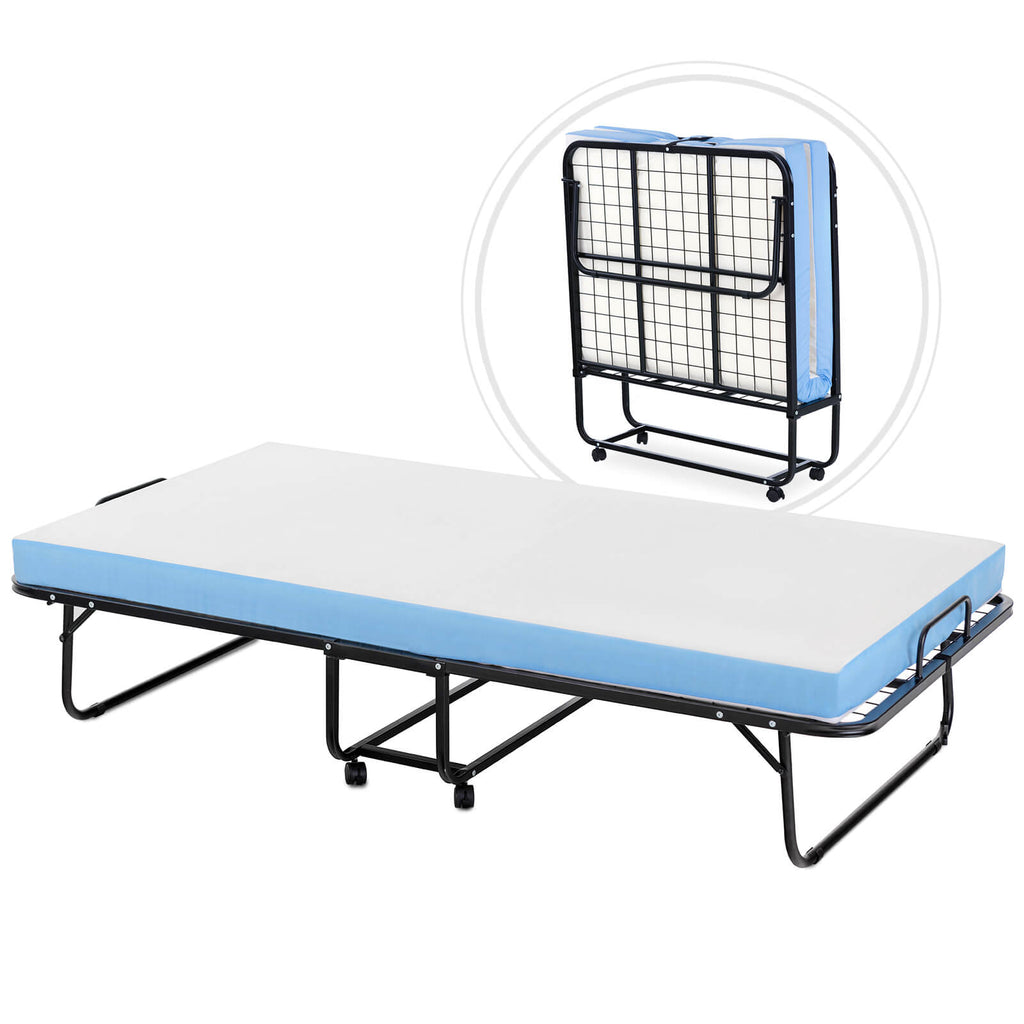 Mecor Foldable Folding Bed Rollaway Guest Bed With 4 Inch