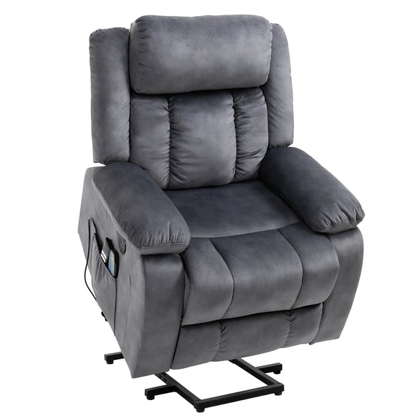 Mecor Lift Chair, Power Lift Recliner for Elderly, Fleece Massage Recliner Chair  - Gray