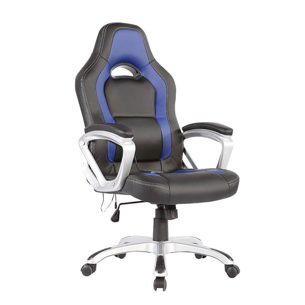 Mecor Ergonomic Race Computer Office Massage Chair 6 Vibrating PU Leather