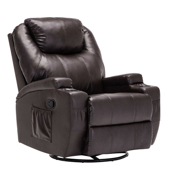 Massage Recliner Sofa Leather Vibrating Heated Ergonomic Chair Lounge