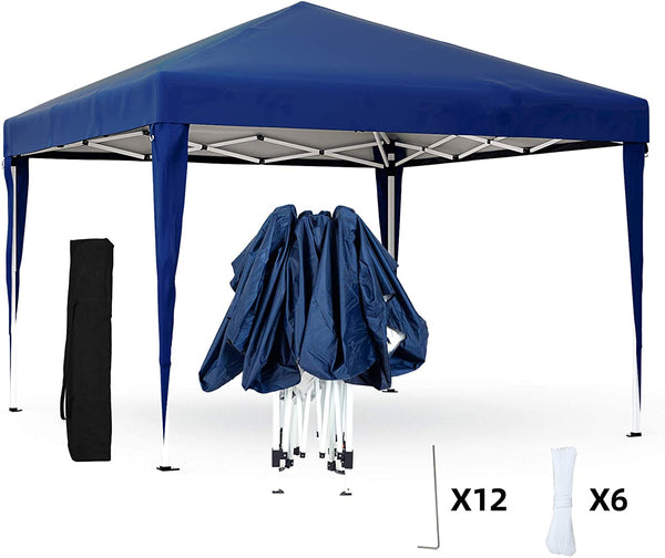 Mecor Outdoor Pop Up Canopy Tent Waterproof Gazebo with Carrying Bag Height Adjustable Tent for Party,Wedding(10'x10')