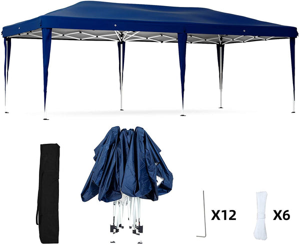 Mecor Pop Up Canopy Tent Heavy Duty Gazebo with Carrying Bag Height Adjustable Tent for Party,Wedding(10'x20')