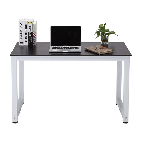 "43"" Large MDF Computer Office Desk PC Laptop Table Study Work-Station Home Office Furniture Black"