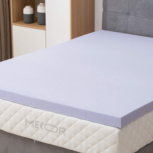 "Mecor 3 Inch 3"" Mattress Topper Queen Size-100% Gel Infused Memory Foam Mattress Topper w/CertiPUR-US Certified Foam, Purple"