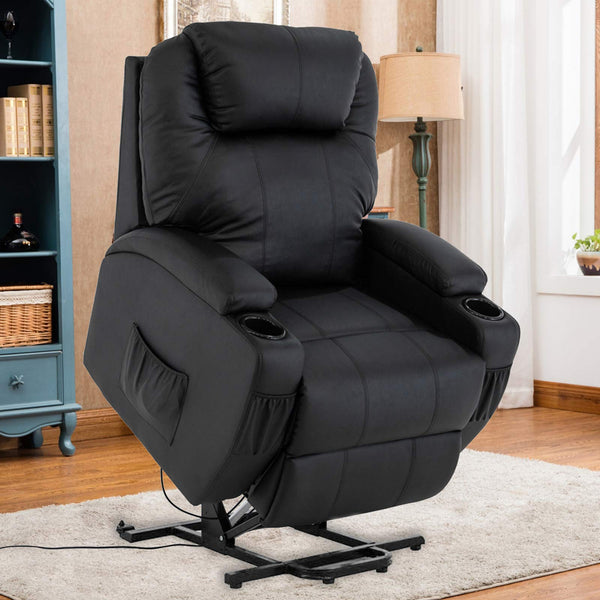 Mecor Lift Chairs for Elderly Power Lift Recliner Chair Bonded Leather Electric Lifting Chair with Remote Control
