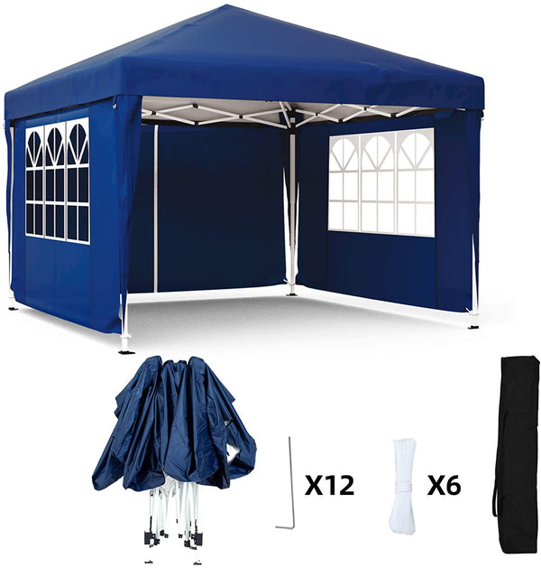 Mecor Outdoor Pop Up Canopy Tent Waterproof Gazebo with Removable Sidewalls Height Adjustable Tent for Party,Wedding(10'x10',4 Sidewalls)