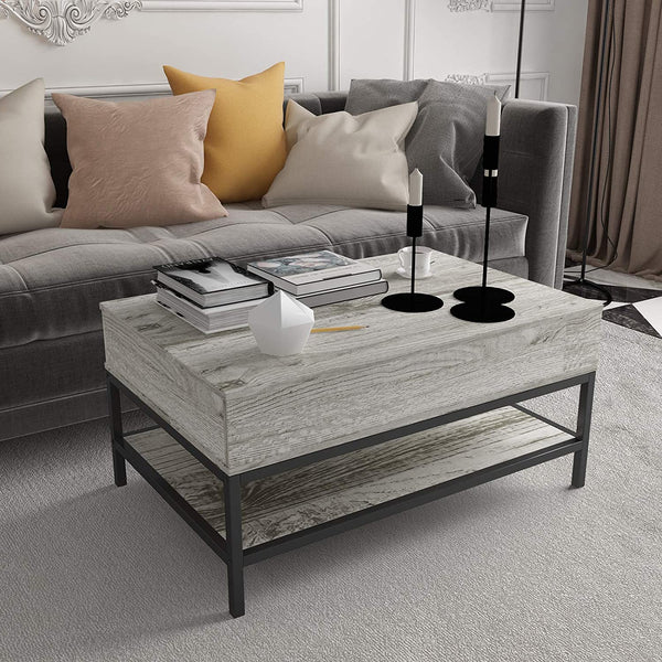Mecor Lift Top Coffee Table with Hidden Compartment Modern Lift Tabletop Dining Table