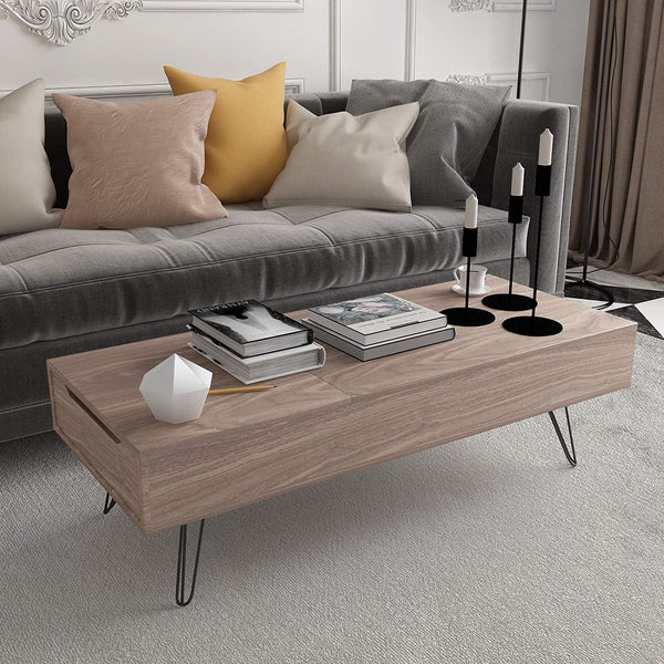 Mecor Lift Top Coffee Table with Hidden Compartment Modern Coffee Table