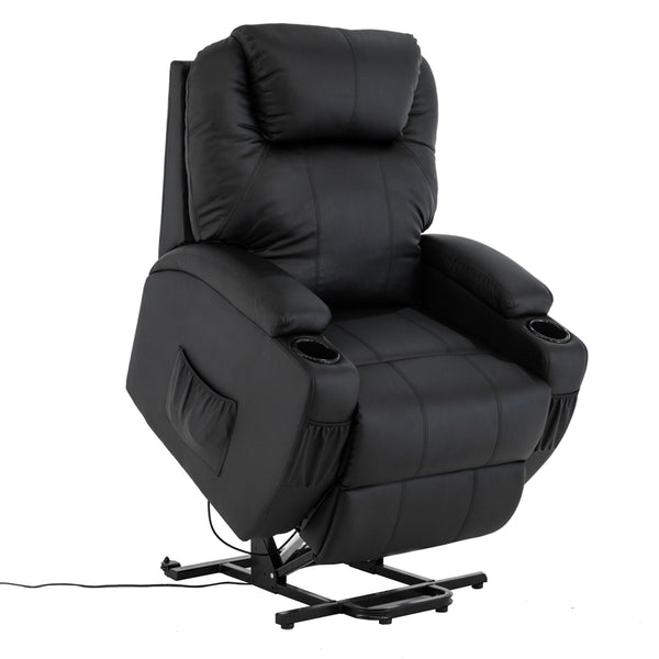 Mecor Lift Chairs for Elderly Power Lift Recliner Chair Bonded Leather Electric Lifting Chair with Remote Control/Cup Holders/Reinforced Heavy Duty Reclining Mechanism for Living Room