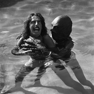 Alice Cooper in the pool
