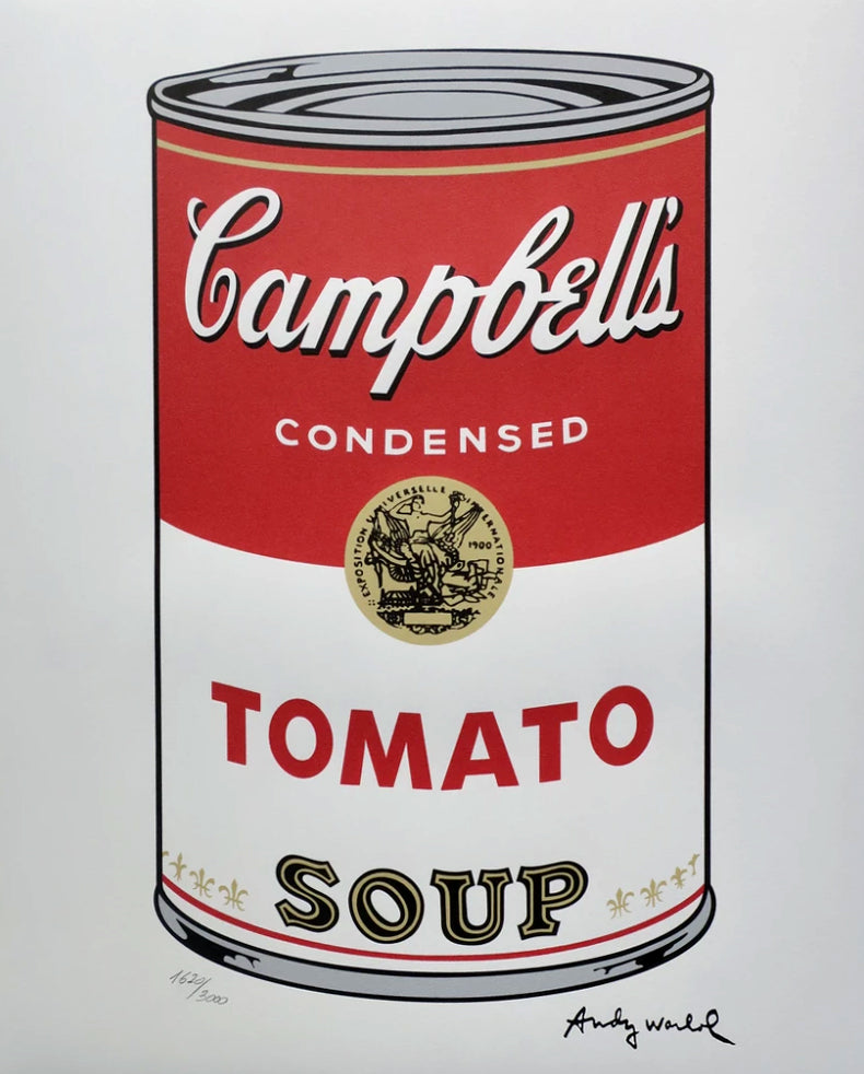 Campbell's Soup lithograph by Andy Warhol. Signed in print & numbered