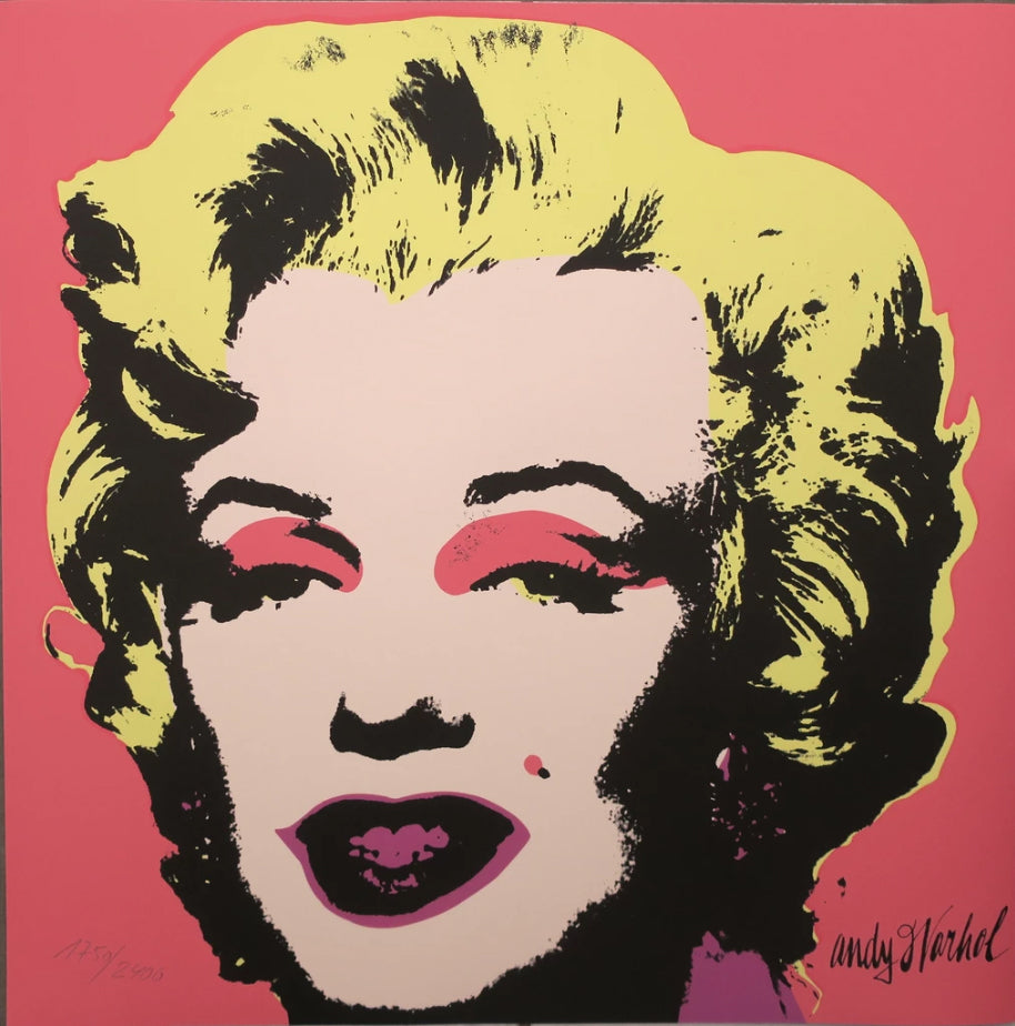 Marilyn Monroe rare lithograph by Andy Warhol. Signed in print & numbered