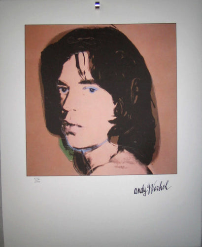 Mick Jagger lithograph by Andy Warhol. Signed in print & numbered